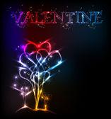 Pozadí Valentýnské srdce — Stock vektor