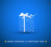 Modern card with abstract blue christmas decoration illustration — Vettoriale Stock