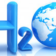 H2O. Formula of water - Stockfoto