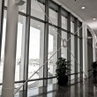 Corridor with glass and metal — Stock Photo