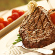 Постер, плакат: Rib Eye Steak served with wine