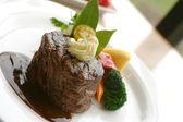 Tenderloin Steak Dinner — Stock Photo