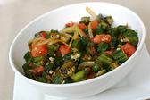 Indian Food Series - Okra Dish — Stock Photo
