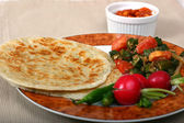 Indian Food Series - Vegetarian Meal — Stock Photo