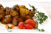 Indian Food Series - Spicy Potatoes — Stock Photo