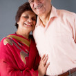 Elderly East Indian Couple — Stock Photo