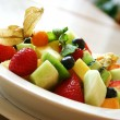 Breakfast series - Fresh fruit bowl — Stock Photo