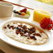 Stock Photo: Breakfast Series - Oatmeal with raisins