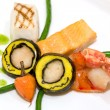 Stock Photo: Lobster covered with scallop mousse
