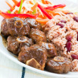 Stock Photo: Oxtail Curry with Rice - CaribbeStyle