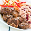Oxtail Curry with Rice - Caribbean Style — Stock Photo