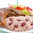 Jerk Chicken with Rice - Caribbean Style — ストック写真