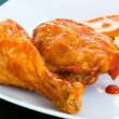 Stock Photo: Fried chicken with Sauce - CaribbeStyle