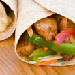 Jerk Chicken Wrap — Stock Photo