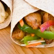 Stock Photo: Jerk Chicken Wrap