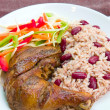 Jerk Chicken with Rice - Caribbean Style — Foto Stock