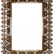 Beautifully decorated blank frame - Stock Photo