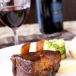 Stock Photo: Braised Cumbrae's Short Rib served with Wine