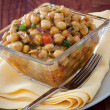 Stock Photo: Spicy MoroccChickpeas Salad - Vegan