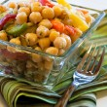 Chick peas salad — Stock Photo