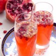 Pomegranate Spritzer - Stock Photo