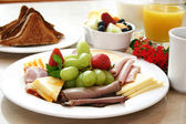 Breakfast Series - Protein platter — Stock Photo