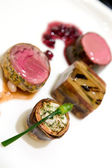 Fine dining - Entrees — Stock Photo