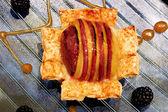 Apple Custard Pie — Stock Photo