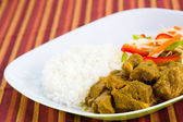 Goat Curry with Rice - Caribbean Style — Stock Photo