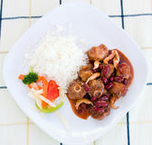 Oxtail Stew with Rice and Vegetables — Stock Photo