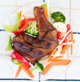 Jerk Chicken with Vegetables — Stock Photo