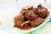 Oxtail Stew with Rice — Stock Photo