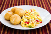 Vegetable Dumpling with Saltfish — Stock Photo