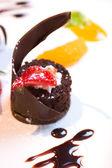 Dark Chocolate Dessert — Stock Photo