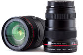 Obiettivo della fotocamera reflex — Foto Stock