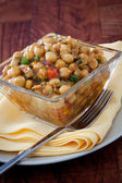 Spicy Moroccan Chickpeas Salad - Vegan — Stock Photo