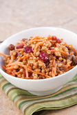 Vegan Salad - Wheat Berry Salad with Cranberries and Nuts — Stock Photo