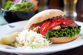 Portobello Mushroom Burger — Stock Photo