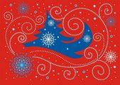 Christmas card — Stok Vektör