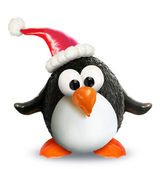 VeggieFruit Christmas Penguin — Stock Photo