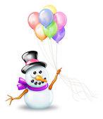 Cartoon Snowman — Stock Photo