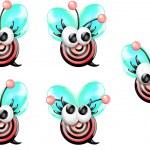 Cartoon Bullseye Bee (girl) — Stock Photo #7505930