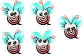 Cartoon Bullseye Bee (Mädchen) — Stockfoto