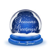 Seasons Greetings Snow Globe — Stock Photo