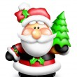 Gumdrop Cartoon Santa - Stock Photo