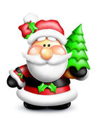 Gumdrop Cartoon Santa — Stock Photo