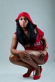 Black woman rap style — Stock Photo