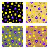 Fleurs backgroud — Vecteur