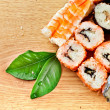 Sushi on desk — Stock Photo #7503281