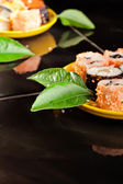 Sushi on the desk — Stock Photo